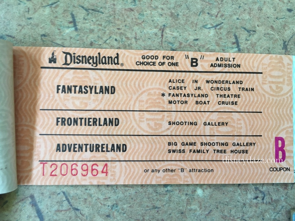 Disneyland B-Ticket (1980)