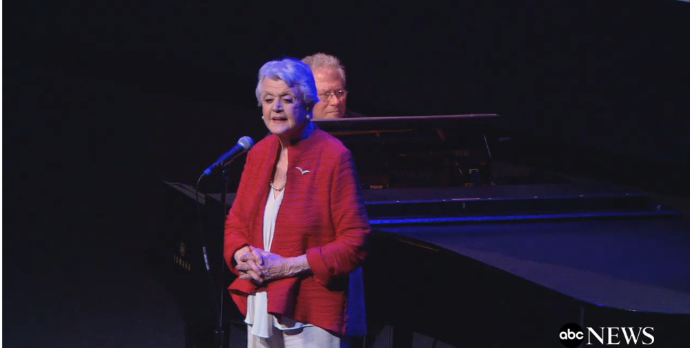 Angela Lansbury & Alan Menken at Beauty & the Beast 25th Anniversary Screening (New York)