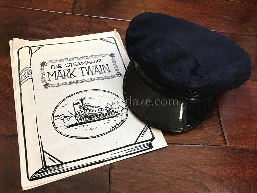 Mark Twain training material & Cast Member hat c. 1990
