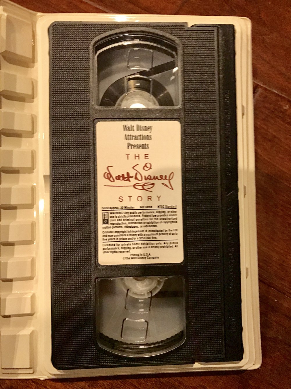 VHS - The Walt Disney Story