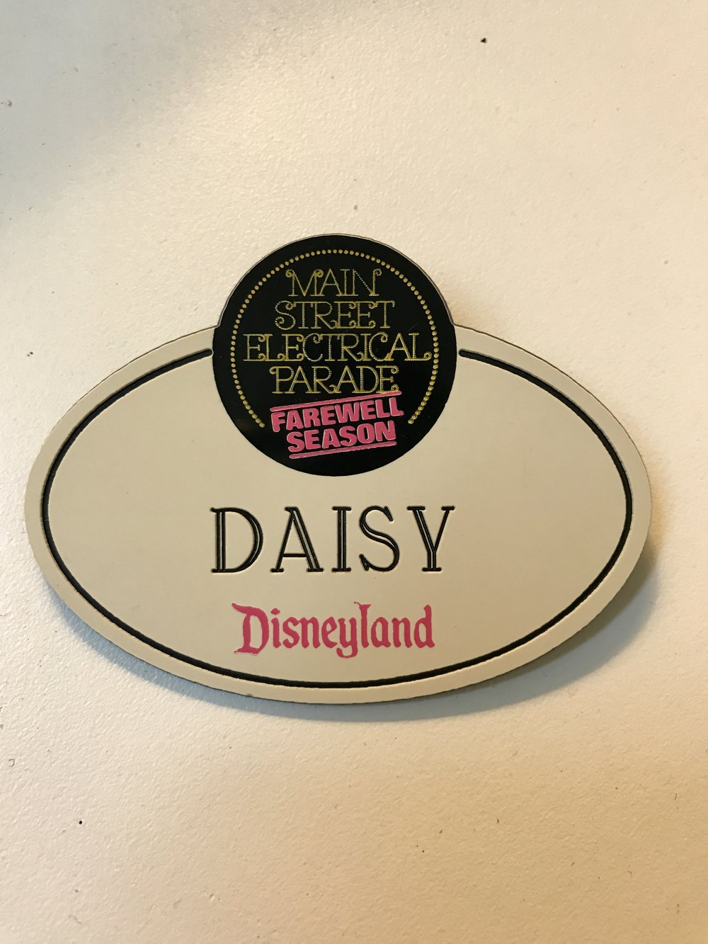1996 Disneyland Cast Member nametag