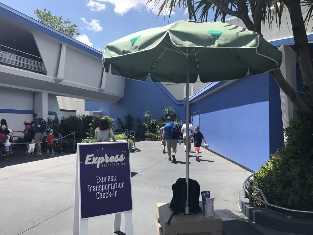 Express Transportation Check-In at Magic Kingdom