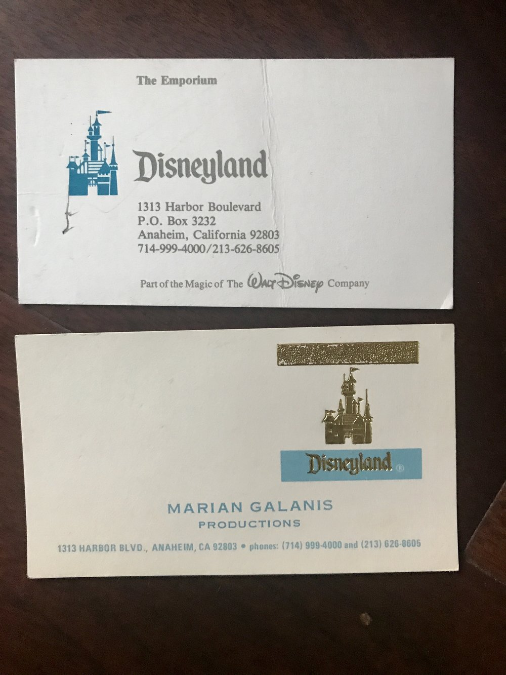 Friday find disneyland store business cards disneydaze this last business card is really fun by the time marian was my supervisor she had been there awhile i think she had started in the early 1970s and colourmoves