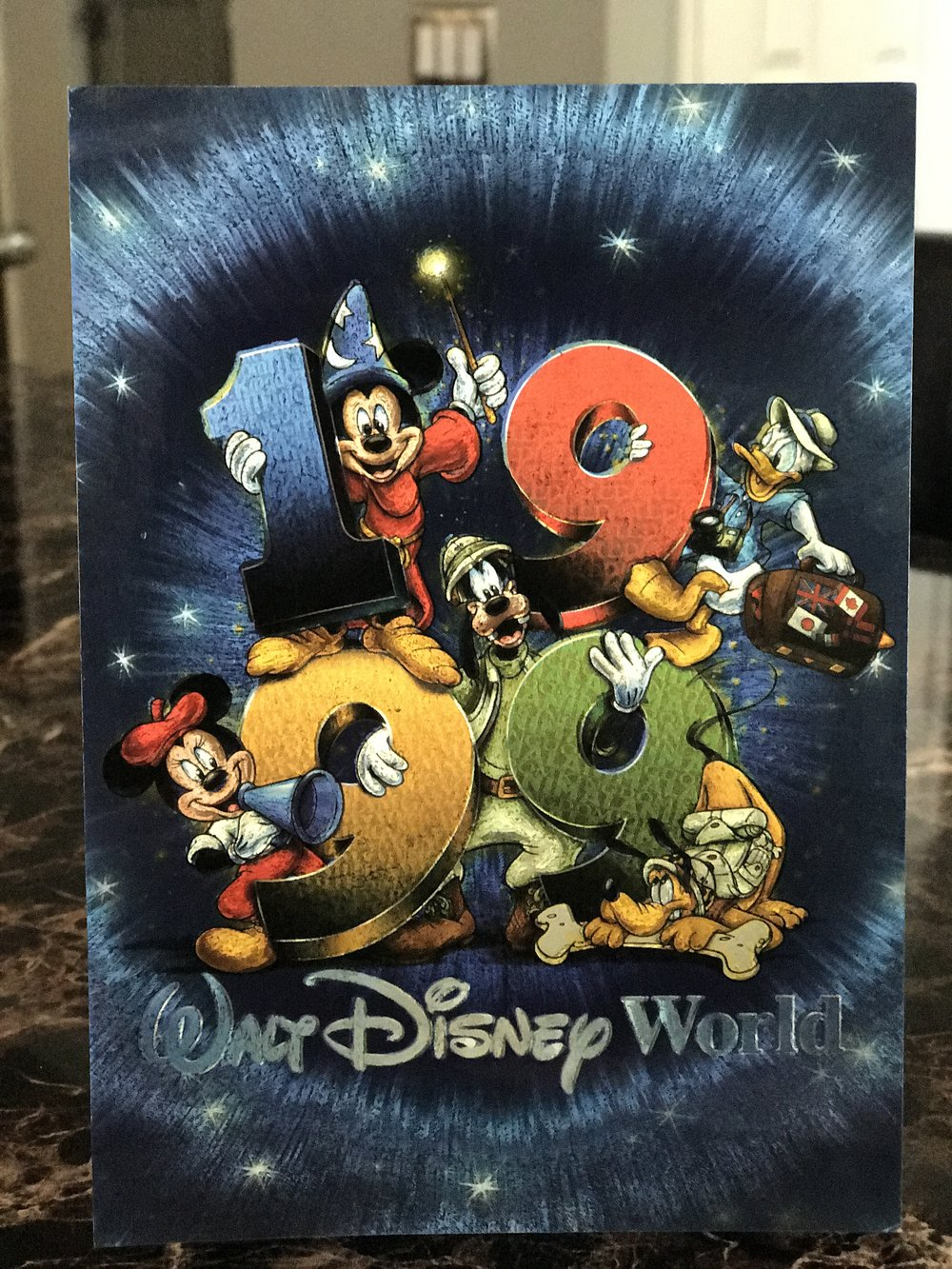 Postcard from Walt Disney World, 1999.