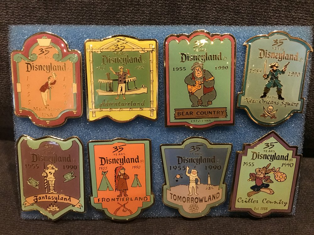 Disneyland 35th Anniversary Pin Set - Cast Member Exclusive