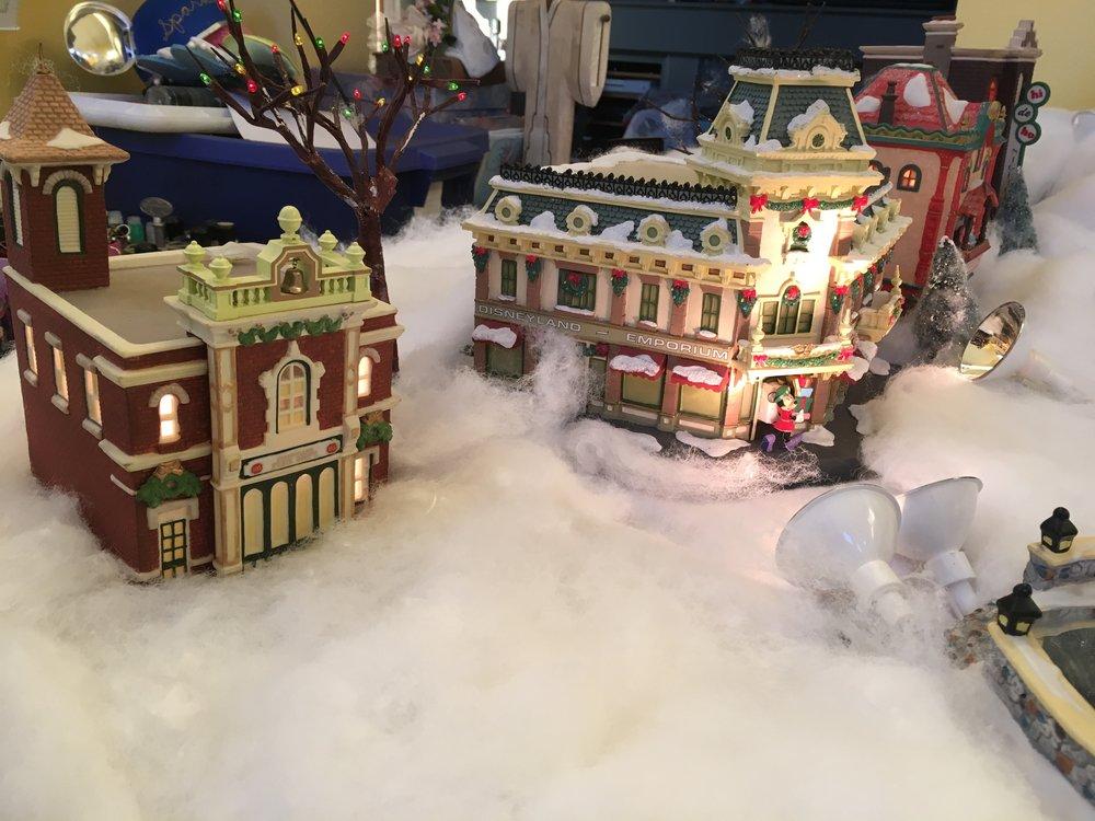 friday find disney christmas village buildings disneydaze