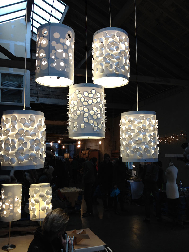 Hanging lamps by Cassie Hibbert Design