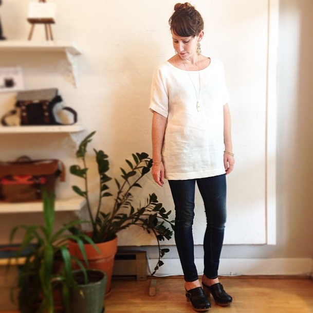 """The Blank Canvas"" Oversized Organic Linen Tunic; $185 at Velouria"