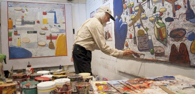 Gaylen Hansen in his studio