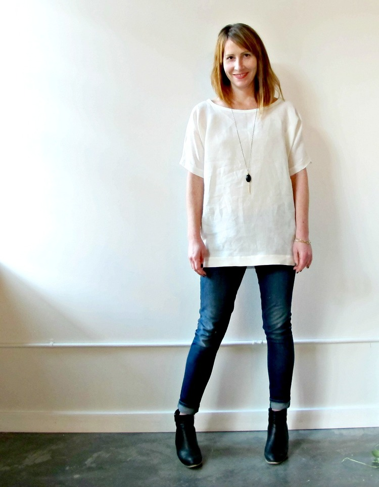 Blank Canvas Tunic in 100% Organic Linen