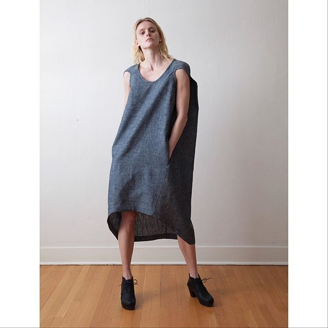 When it's sunny and warm and October, there's the Basalt Canvas Dress. . . #sustainablefashion #sustainabletextiles #slowclothing #slowfashion #ethicallymade #madeinusa #seattlemade #fallfashion
