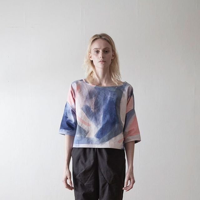 Some of our FW17 styles double as Pre-Spring if your in that sort of mood 🌸 . . #fw17 #prespring #handpaintedtextiles #sustainablefashion #sunbreak #3quartersleeve #cyclamentop  #madetoorder #madeinusa #slowclothing