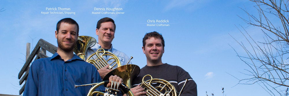 With Dennis Houghton and Chris Reddick at the helm, Houghton Horns is one of the most popular and respected brass repair shops in the country. With over 25 years of experience, any imaginable repair or customization can become a reality in our shop.