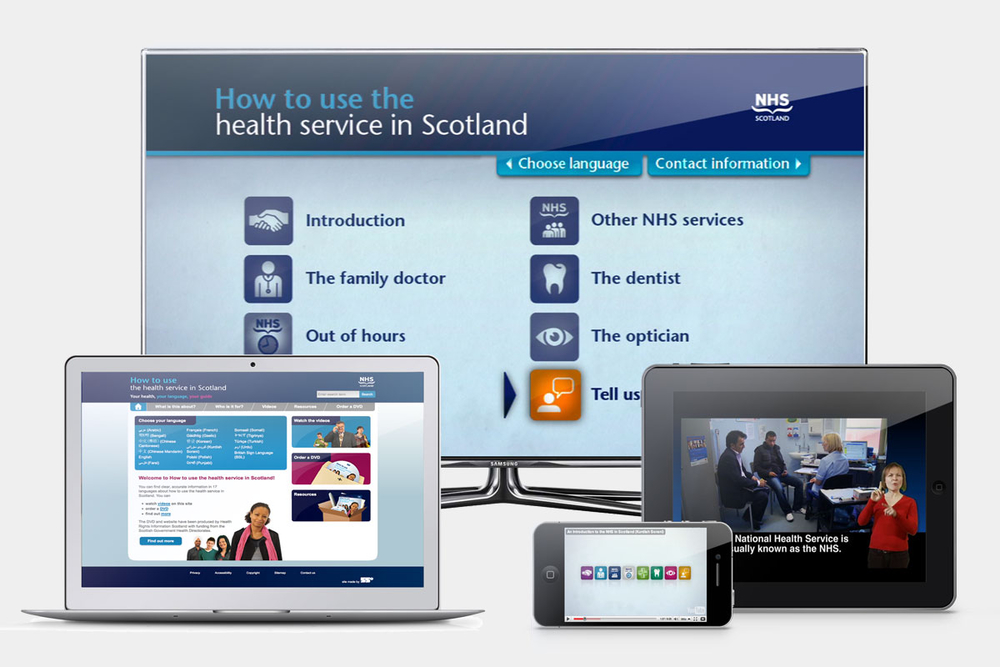 How to use the NHS screen designs