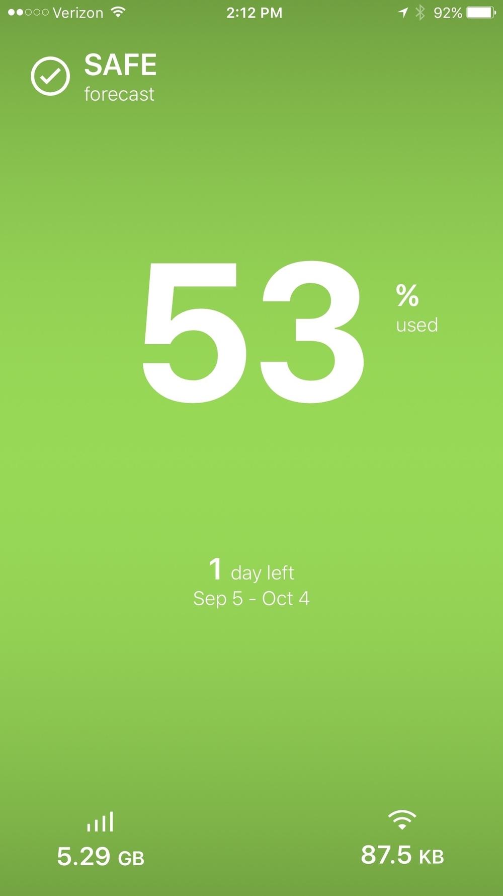 Screenshot of Dataman Pro for iPhone.