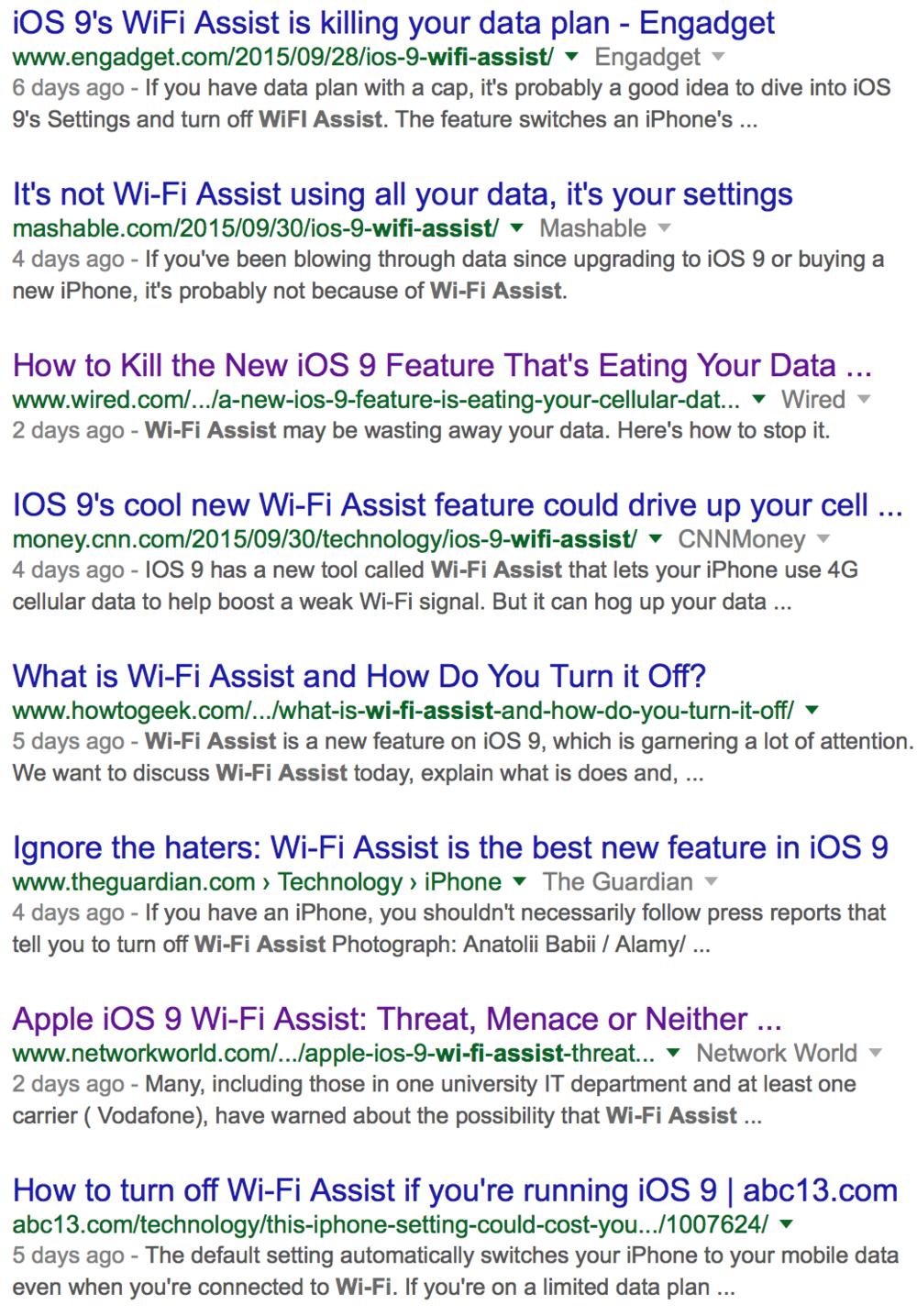 """Try Googling """"WiFi Assist."""""""