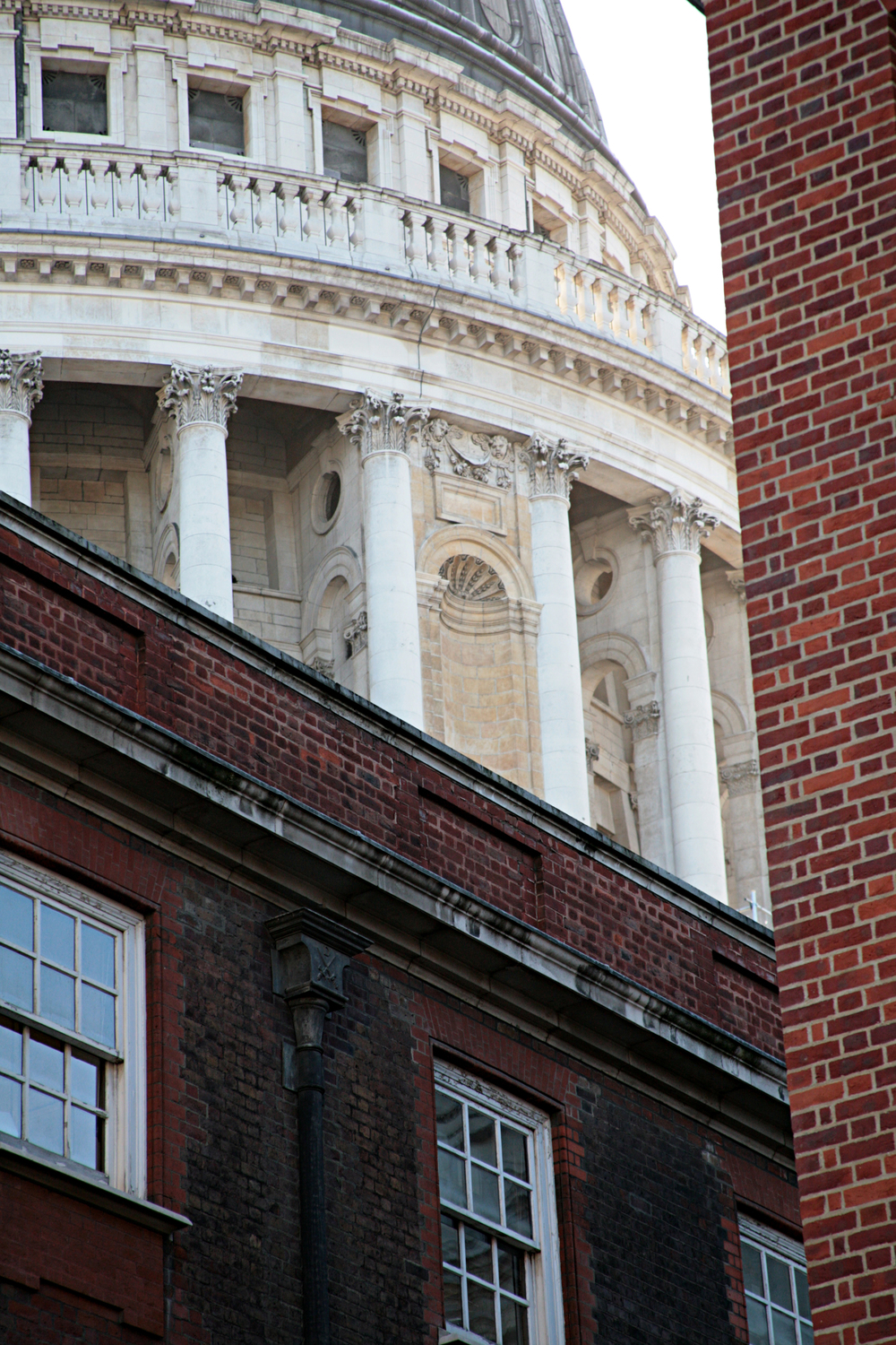 Glimpse of St Paul's from Patanoster Sq, EC4.jpg