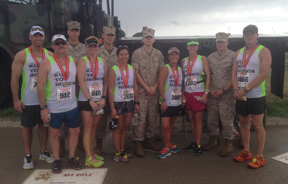 RTH's West Texas Chapter at the Wounded Warrior Half Marathon in Dallas on 8 June 2014.