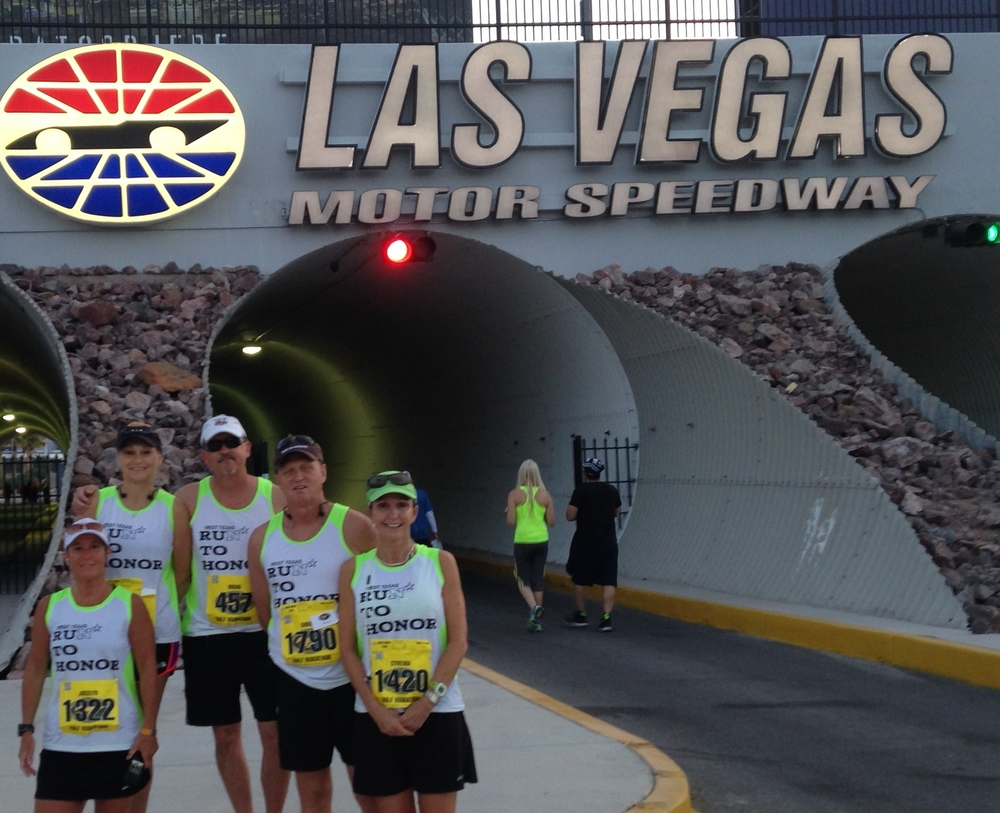 David and other RTH team members at the Mustang 50th Anniversary Half Marathon in April 2014