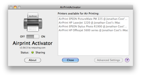 Airprintactivator