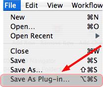 save as plugin