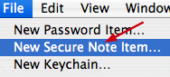 secure note