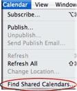 shared calendars