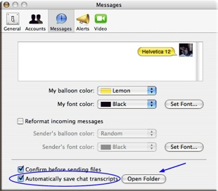 save chats