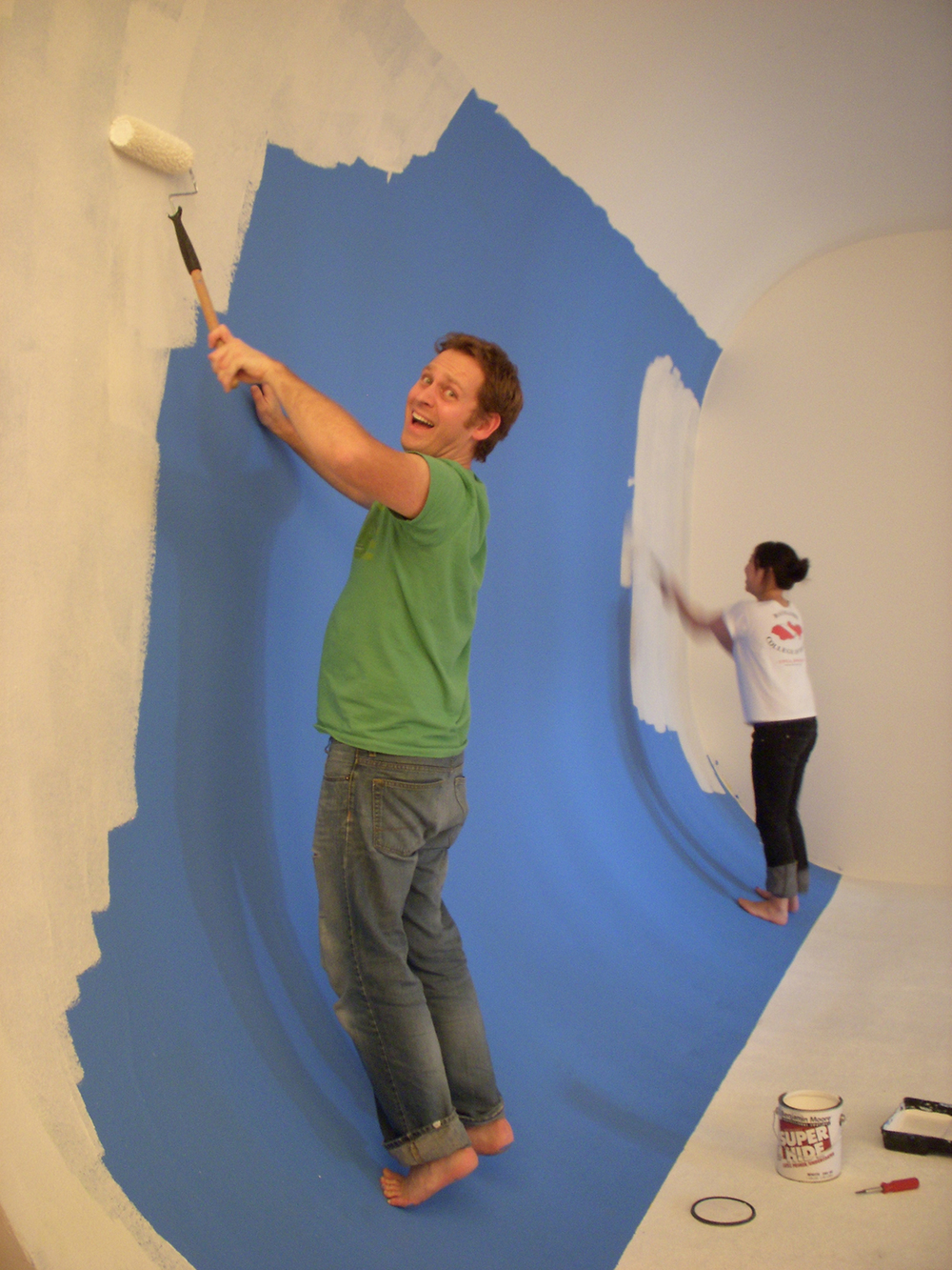 We do it all....painting the set with Chris Soucey and Vicky Song