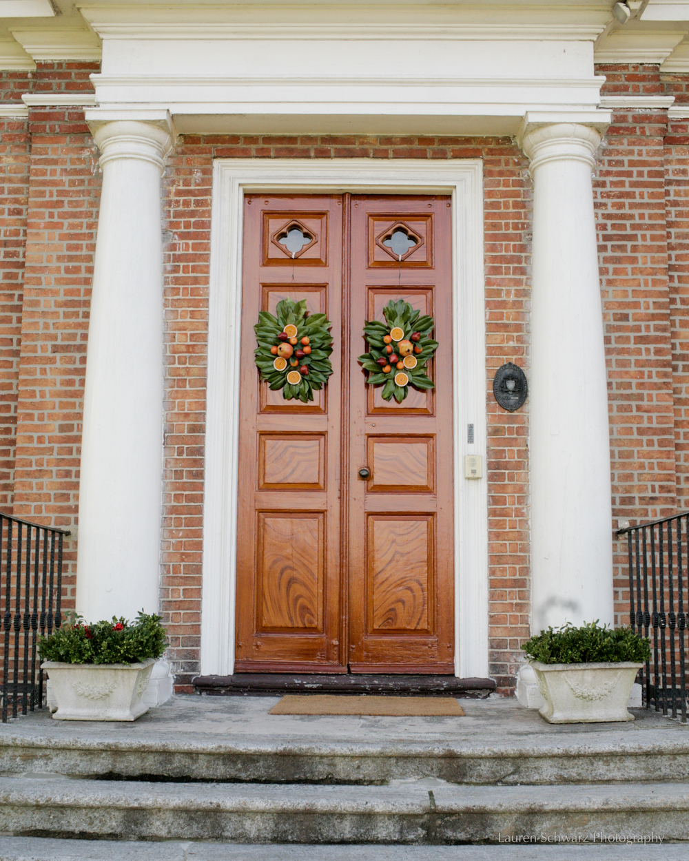 Doors welcoming guests into Woodford