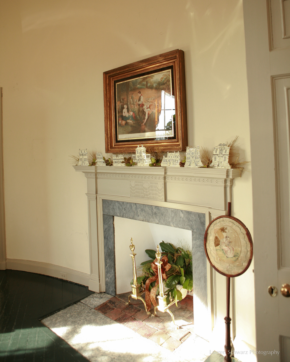 A fireplace in Lemon Hill