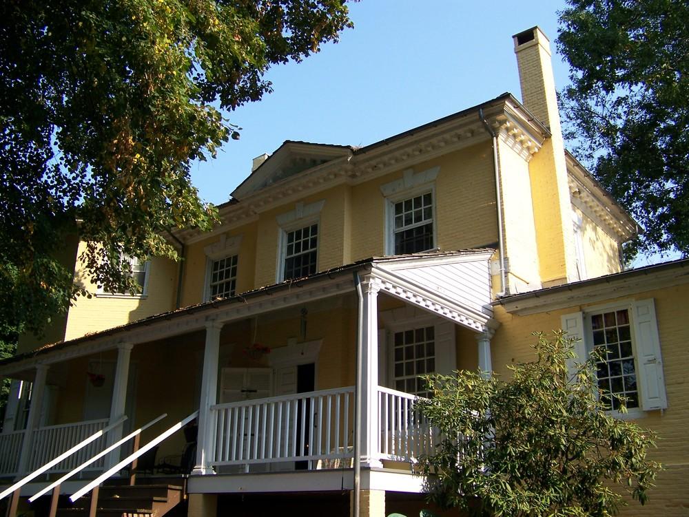 Back porch of Laurel Hill