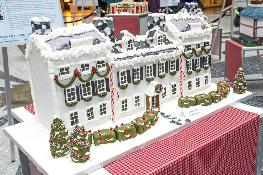 Strawberry Mansion Gingerbread House Model Photo by Anthony Sinagoga