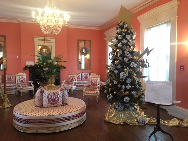 Interior at Strawberry Mansion, decorated for the Annual Holiday House Tours