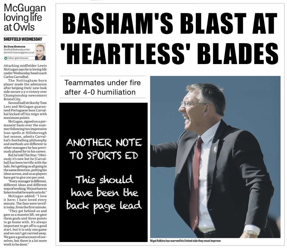 THIS IS A NEWS STORY:  Ignored by The Star and watered down Basham quotes inside