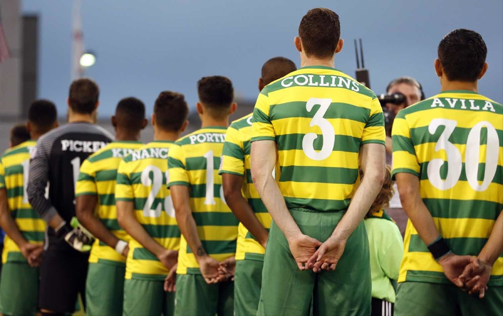 UNDER STARTER'S ORDERS:  Neill Collins prepares to make his home debut for THE Rowdies at the Al Lang Stadium. Picture:  Matt May/TAMPA BAY ROWDIES