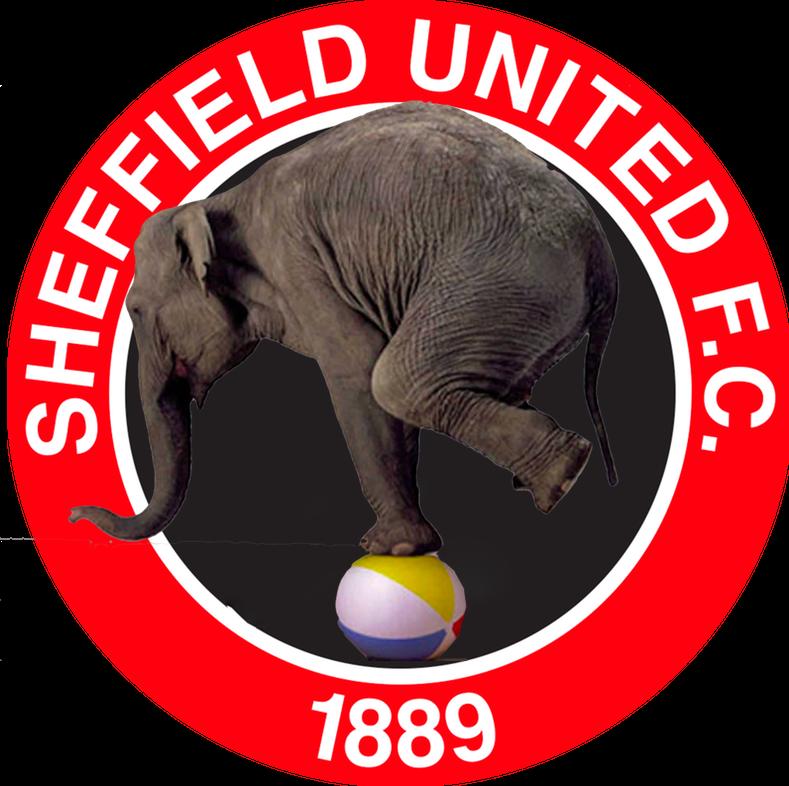 Sheffield United elephant balancing act