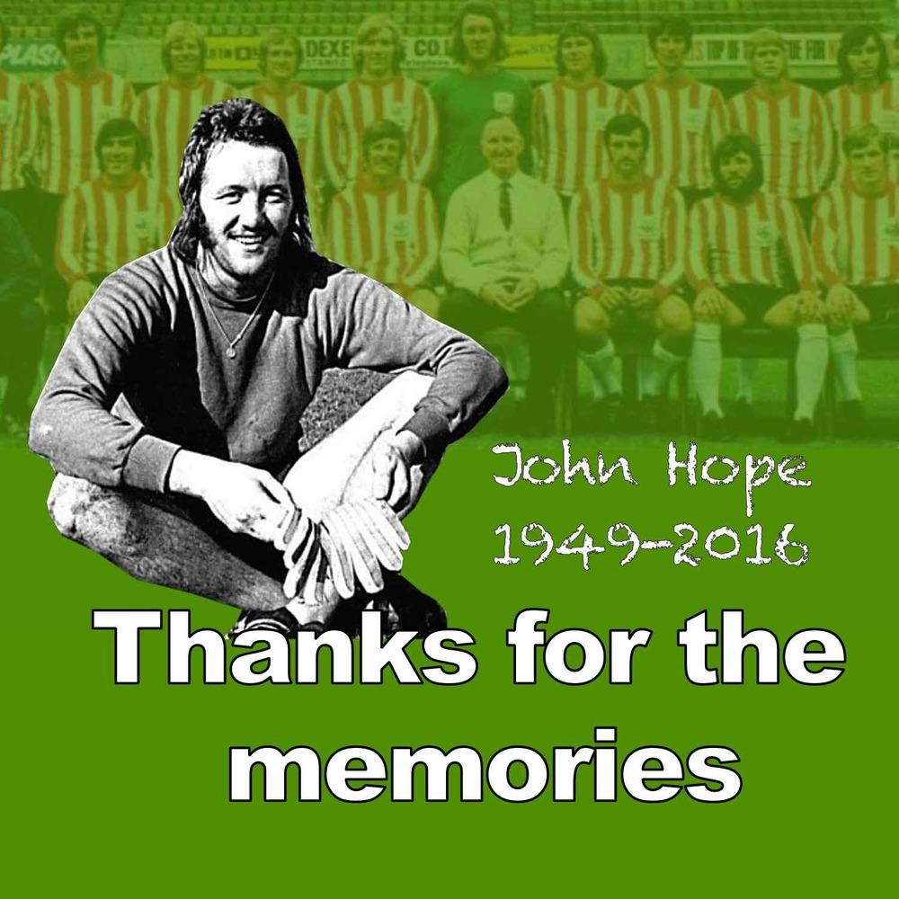 John Hope, former Sheffield United goalkeeper, has passed away