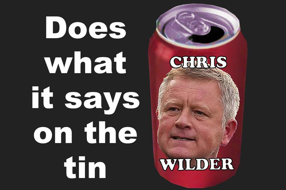 Chris Wilder does what it says on the tin