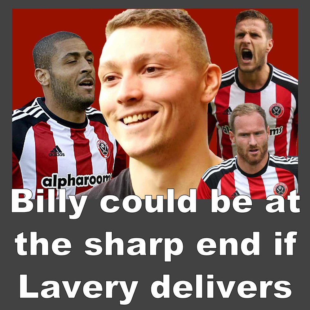 Sheffield United striker could be at the Sharp end if Caolan Lavery delivers at Bramall Lane