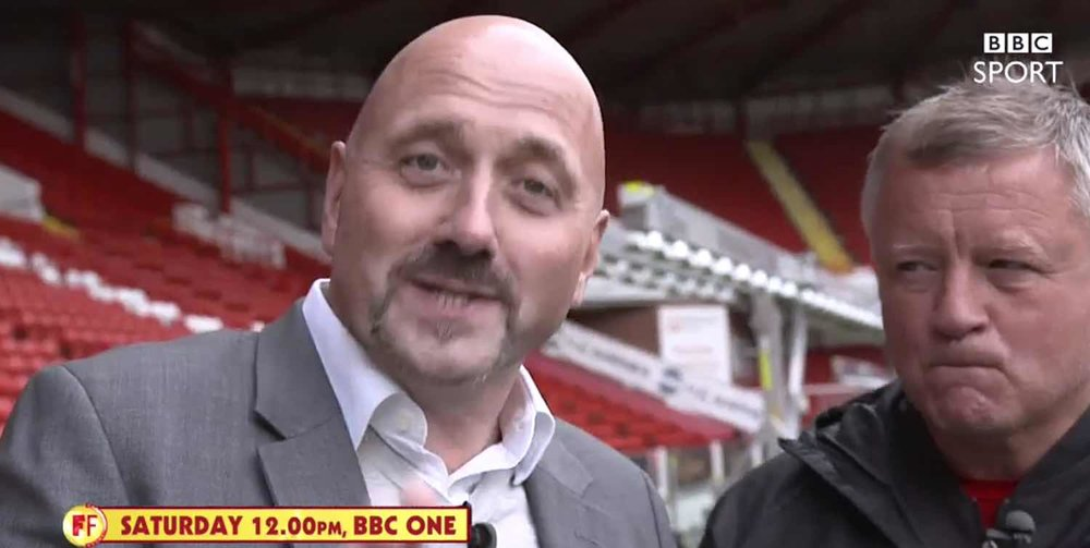 MEDIA GLARE:  CHRIS WILDER INTERVIEWED BY MARK CLEMMIT FOR BBC'S FOOTBALL FOCUS. CLICK IMAGE FOR CLIP.