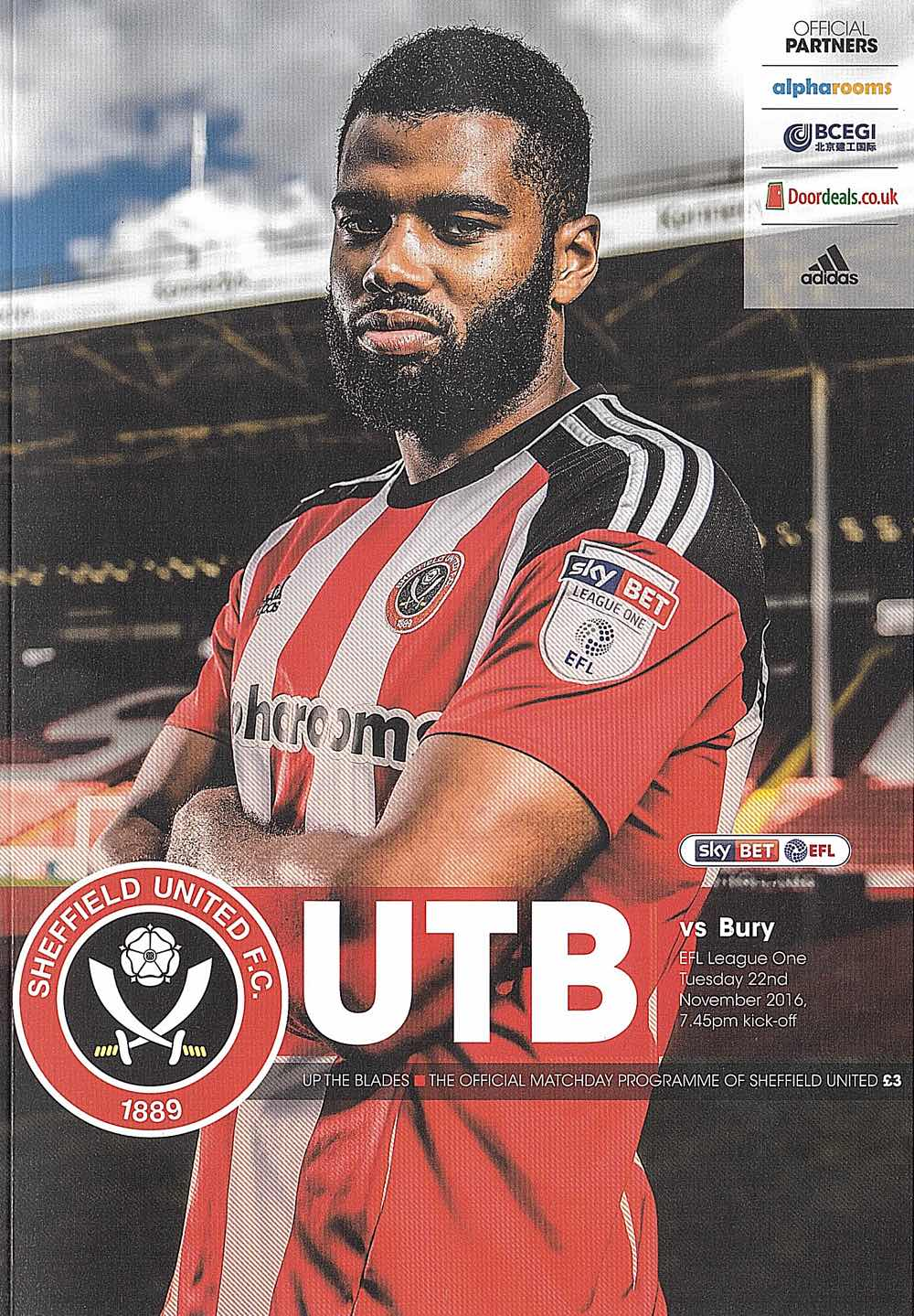 MATCH-WINNER : ETHAN EBANKS-LANDELL WAS PERFECT  PROGRAMME COVER CHOICE FOR VISIT OF  BURY