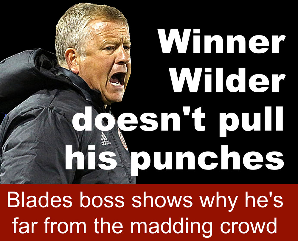 Sheffield United manager Chris Wilder's promotion warning