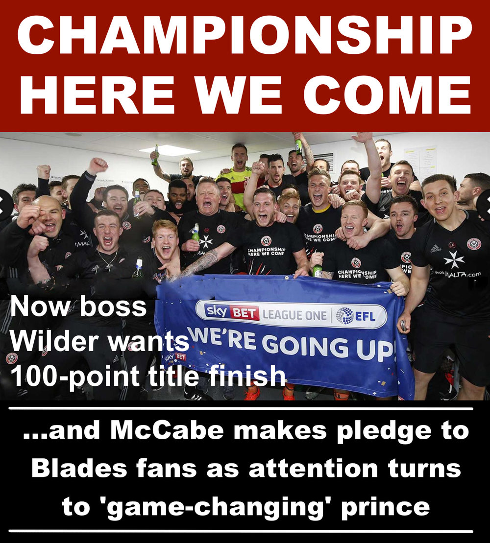 Sheffield United celebrate clinching promotion as co-owner Kevin McCabe makes Championship pledge
