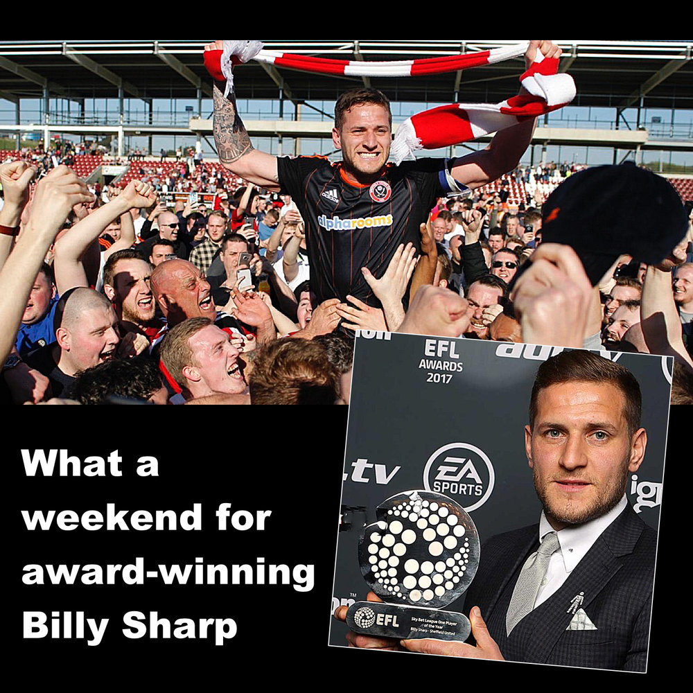 Sheffield United's Billy Sharp wins League One Player of the Year Award