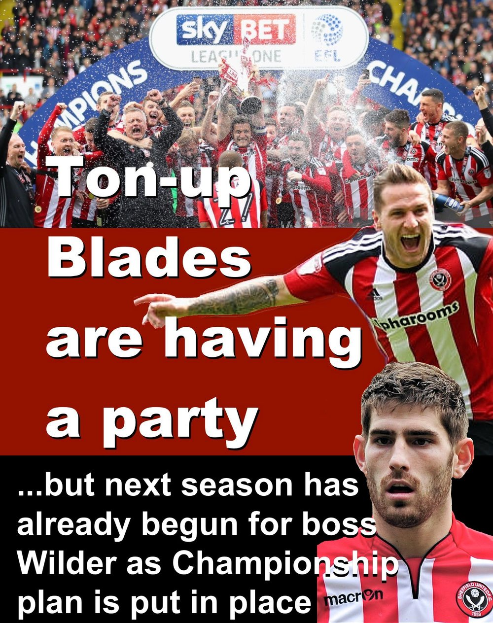 Sheffield United enjoy title party as boss Wilder start to put Championship plans in place