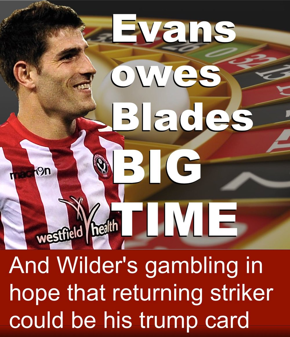 UNITED BOSS WILDER ROLLS THE DICE, above, and a different take, below, on evans' return -  CLICK IMAGEs TO READ.