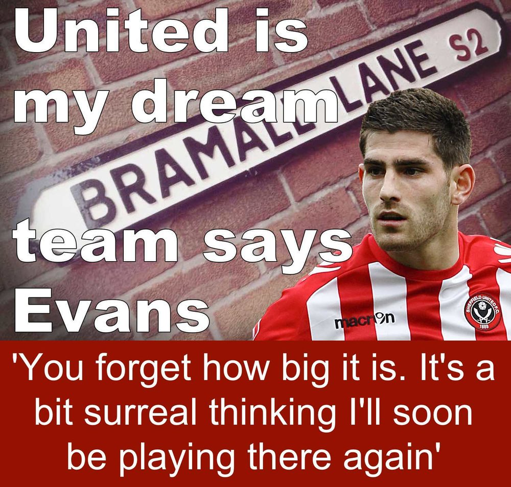 Striker Ched Evans is back at Bramall Lane and says Sheffield United is his dream team