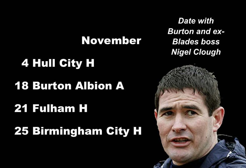 Sheffield United fixtures: Ex-Blades boss Nigel Clough, now in charge of Burton Albion, faces his old club