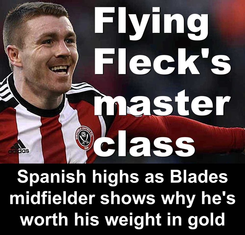Sheffield United's John Fleck gives a midfield master class for Blades in Spain